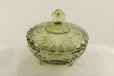 Imperial Glass Verde Green Cambridge Caprice # 165 Covered Candy Elegant
