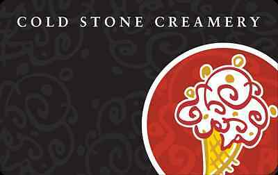 $25 Cold Stone Creamery Gift Card for $20 - US Mail delivery