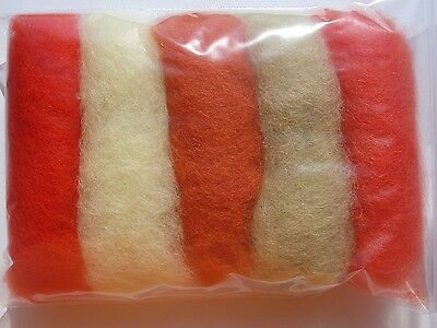 Carded wool fiber for needle felting crafts-15grams-5C#134
