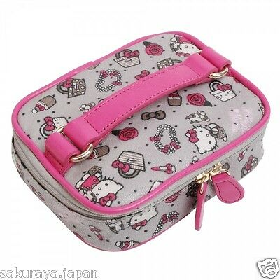 Hello Kitty x MIMO Cosmetic Vanity Mini Pouch Makeup Bag Case Box Japan Z0055