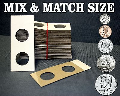 Five Hundred 500 Assorted Size YOU PICK 2X2 Cardboard Mylar Coin Holders Flips