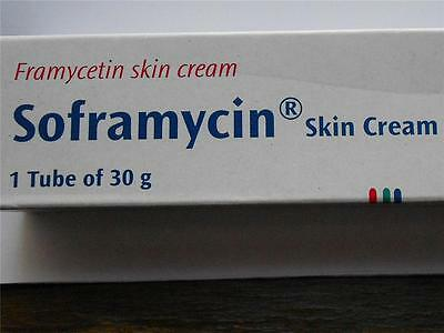 LOW PRICE 2 TUBES 60 GMS SOFRAMYCIN SKIN CREAM BURNS WOUNDS CUTS ULCERS BOILS