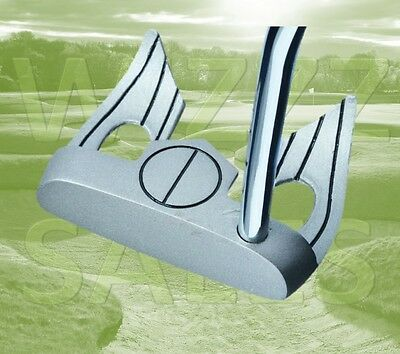 Bat Wing Golf Club Putter with One Ball Split Disc Alignment Aid, Right Hand