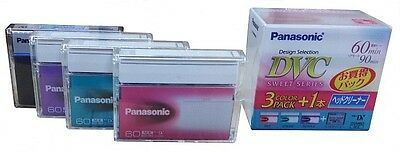PANASONIC Mini DV Tapes 4 PK - 3 Mini DV tapes + Head Cleaning Tape - Brand New