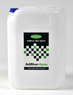 AdBlue 20L Ltr Litre with FREE Spout Commercial Automotive Vehicles ISO22241 DEF