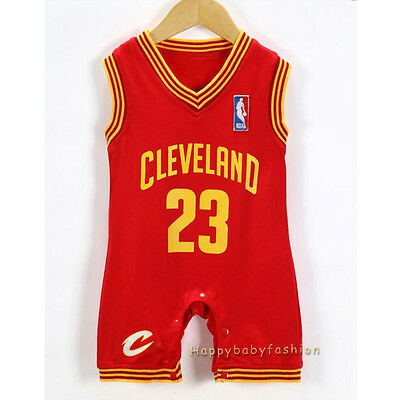 Baby Boy NBA JERSEY LeBron James #23 Cleveland Cavaliers Basketball Sz: 00,0,1,2