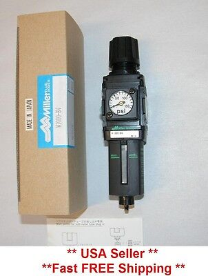 Air Compressor Regulator With Gauge Plus Filter and Water Trap By Miller CKD