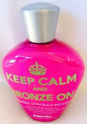 Supre Keep Calm and Bronze On Black Bronzer Indoor Tanning Bed Lotion