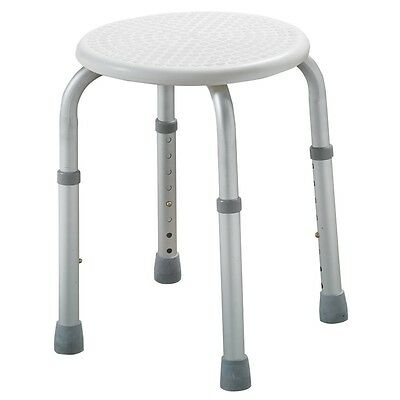 Shower or bath stool adjustable height lightweight aluminium seat chair