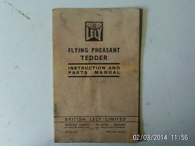 LELY Flying Pheasant Tedder Instruction and Parts Manual