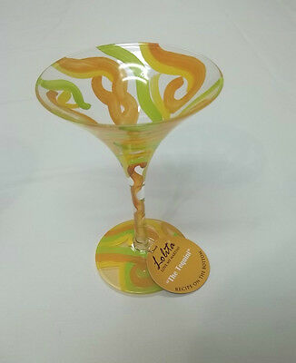 Lolita Love My Martini The Tequini Hand Painted Martini Glass With Hang Tag MIB