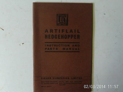Lely Artificial Hedgehopper Instruction and Parts Manual