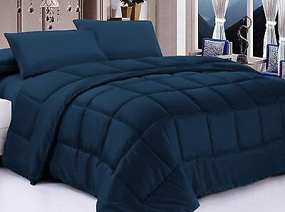 Posh Home Alternative Down Comforter, Full/Queen, Navy , New, Free Shipping