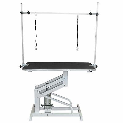 Large Professional Hydraulic Dog Grooming Table With Arm & Leash Adjust Parlour