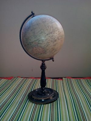 """Antique Table Top 6"""" World / Terrestrial Globe by Geographia, London 1923"""