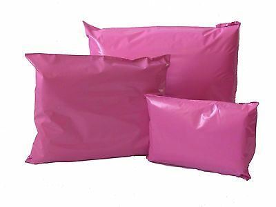 50 PINK PLASTIC MAIL/POST/ PARCEL/MAILING BAGS mixed size