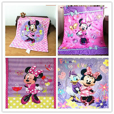 Brand New Disney Minne Mouse Comforter/Quilt/Blanket for Cot and Toddler Bed