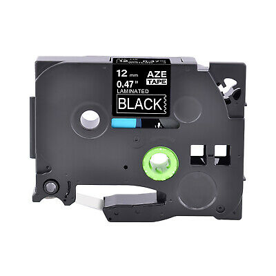 White on Black Label Tape Compatible for Brother TZ TZe 335 P-Touch Tze335 12mm