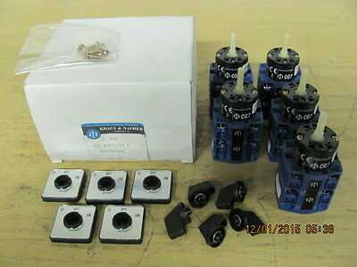 Set of 5 Kraus & Naimer CG7-A202-620E on/off Selector Switch