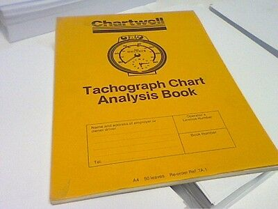 CHARTWELL A4 TACHOGRAPH CHART ANALYSIS BOOK TA.1 -VINTAGE BOOK-see picture