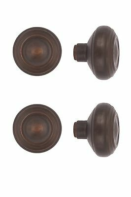 round mission deco bungalow cast brass doorknobs 4 finishes