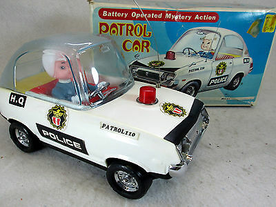 Vintage 1970's Mystery Action bubble top Police patrol car by Kmart  Korea