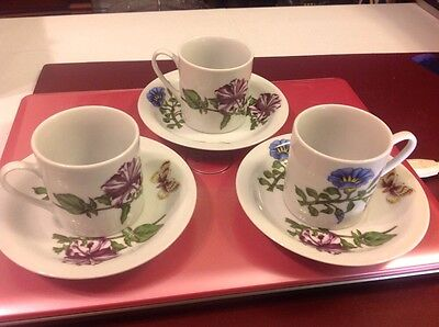 Cordon Bleu Three Sets Of cup and saucer flowers  butterflies