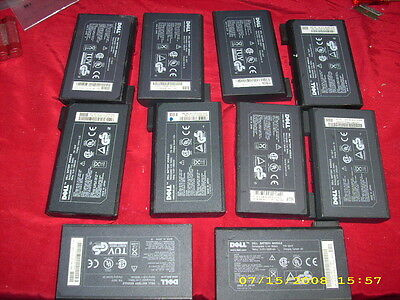 Lot of 10 Dell C600, C610, CPI, CPX Batteries 20-35 MINUTES AS-IS