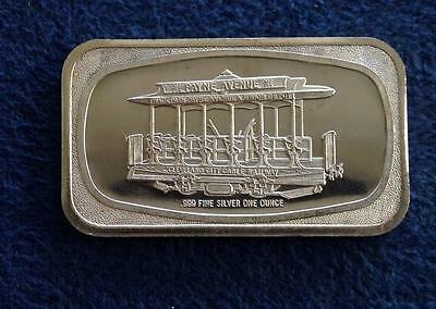 FINE SILVER BAR .999 1 OZ 1973 Wade Payne Avenue and Union Depot Cleveland