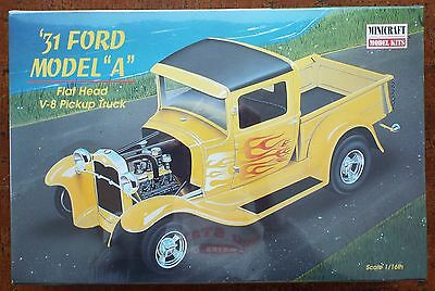 1/16 1931 Ford Model A Flat Head V8 Pickup Minicraft #11223 Shrink Wrapped MISB