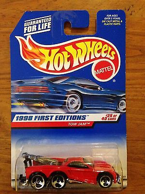 Hot Wheels 1998 First Editions - Tow Jam - #25 of 40 - New on Card