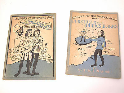 Vintage 1937 lot 2 Song Books Singers of the Middle Ages Beatrice Perham
