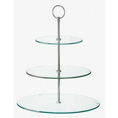 Glass Three Tiered Afternoon Tea Cake Stand, use as a 1, 2 or 3-tiered stand!