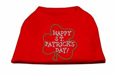 NEW Mirage Pet Products Happy St. Patricks Day Rhinestone Pet Shirt  Small  Red