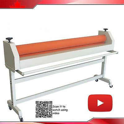 "63"" 1600MM Manual Mounting Wide Format Cold Laminator Roll Laminating Machine"