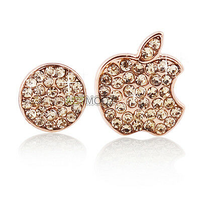 Gold Crystals Bling Deco Home Button Logo Stickers For iPhone 5 5S 4S Touch IPod