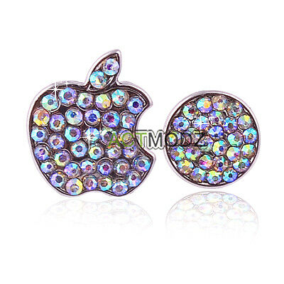 Shinning Crystals Deco Home Button Logo Stickers Bling For iPhone 4 4S Touch 4 2