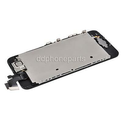 Black LCD + Touch Screen Digitizer + Front Camera Assembly for iPhone 5 + Frame