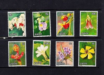Zaire, Flowers 1984 Set of 8 MNH #1146-53 Mint