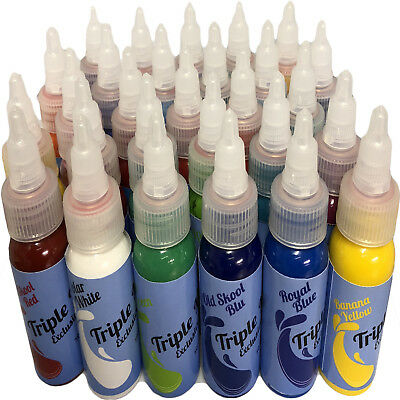 Tattoo Ink Triple Mix Exclusive Tattoo Colour Brightest Colours Smooth & Solid