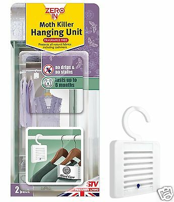 Zero In Clothes Moth Killer Hanging Unit 2 Pack ZER432