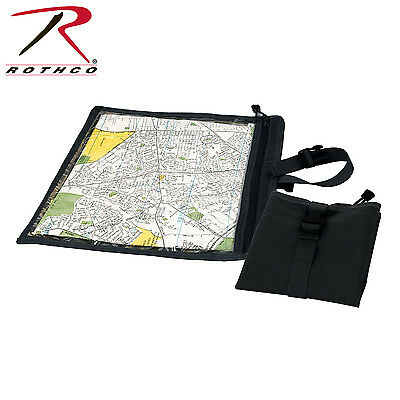 "New Rothco 9838 Waterproof Black Nylon Map & Document Pouch/Case 13.5"" X 13.5"""