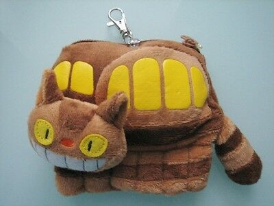 My Neighbor Totoro Cat Bus Purse Coins Bag / Card Holder / Key Chain ~ Free P+P