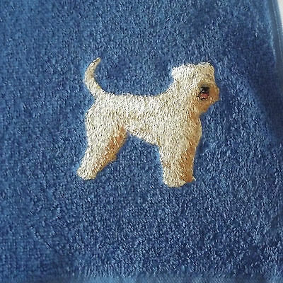 Wheaten Terrier Dog Embroidered Towels, Dog Gift, Personalise, Embroidery