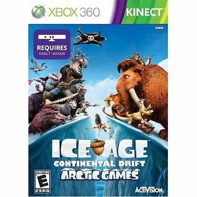 XBOX 360 ICE AGE CONTINENTAL DRIFT ARTIC GAMES BRAND NEW VIDEO GAME KINECT