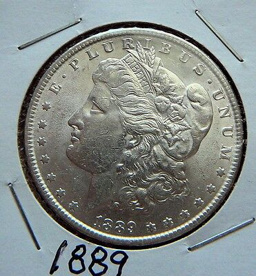 1889 Morgan Silver Dollar, $1 US, CH/BU Uncirculated 'P' Minted Nice Coin  W540