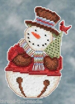 Mill Hill Snowbells Frank Snowman Christmas Ornament counted cross stitch kit