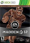 Madden NFL 12: Hall of Fame Edition W/CARD COMPLETE (Xbox 360) **FREE SHIPPING!!