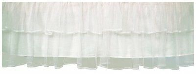 Tadpoles Triple Layer Tulle Crib Skirt in White , New, Free Shipping