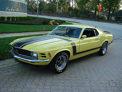 Ford : Mustang Boss 302 1970 mustang boss 302 w deluxe interior